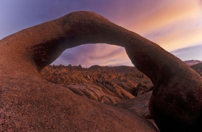 Sunrise At Sunrise Arch, Alabama Hills, Ca