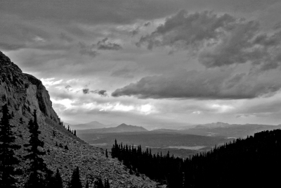 Pike's Peak Road Vista – B&w