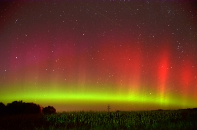 Northern Lights Over The Country