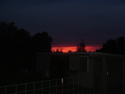 Sunset Over The Chicken Coup