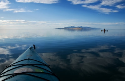 Kayaking On The Great Salt Lake.