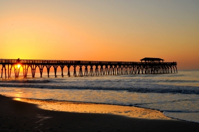 Pier In Sunrise