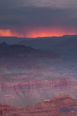Grand Canyon Snowstorm Sunset