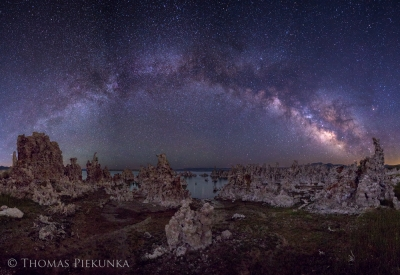 Lee Vining Undeveloped Tufa Area And Milky Way