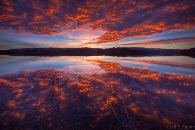 Sunrise Reflection On Topaz Lake