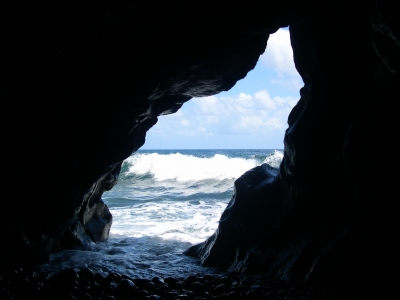 Ocean Cave On The Road To Hana