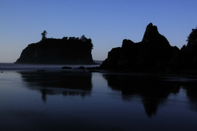 Ruby Beach Under Moonlight