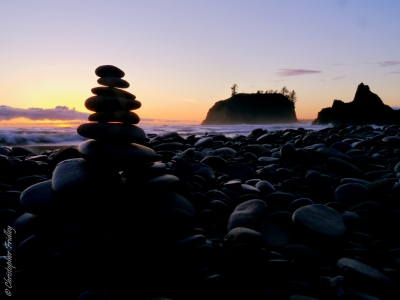Cairn At Ruby Beach
