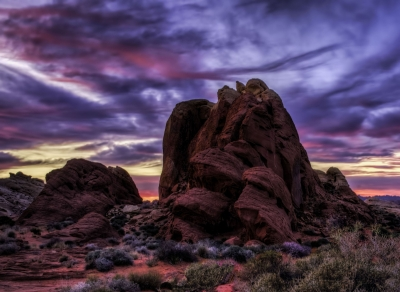 Stormy Sunset At Rainbow Vista Valley Of Fire Nevada