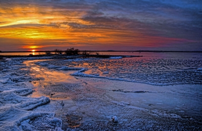 A Cold Winter Sunset