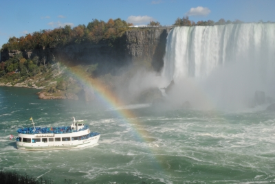 Rainbow Falls And The Maid Of The Mist
