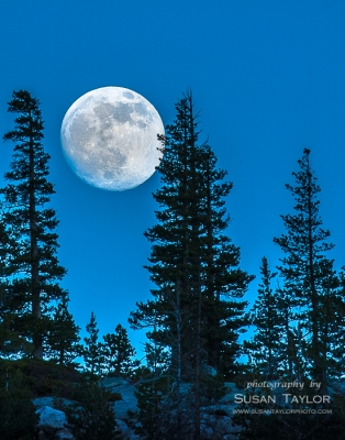 Supermoon 2013 Over Yosemite