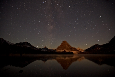 Milky Way At Two Medicine Lake