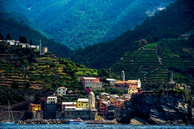 Viewing Vernazza From Offshore