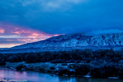 Snow & Sunrise On The Sandia Mountains