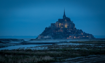 Evening Lights At Mont St Michel