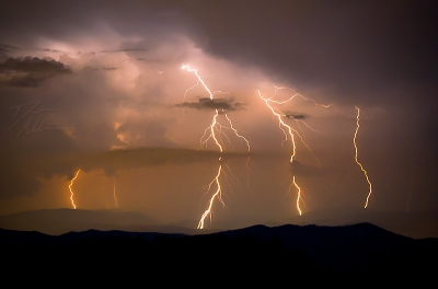 Lightning Over Asheville, Nc