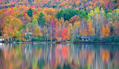 Vermont, Lake Elmore, Fall Colors