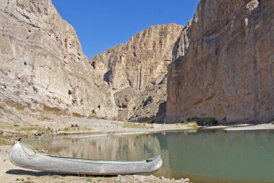 Boquilles Canyon And Canoe