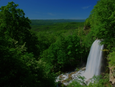 Falling Springs Water Fall And Alleghany Mts.