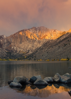 Autumn Sunset, Convict Lake (eastern Sierra)