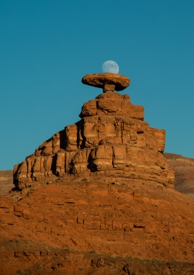 Moon Resting On Mexican Hat