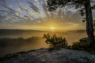 Sunrise Over Calico Rock, Arkansas