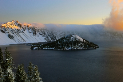 Sunrise On Crater Lake