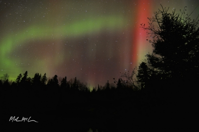 Red And Green Aurora