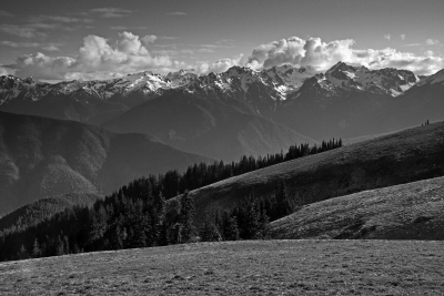 Hurricane Ridge At Sunset