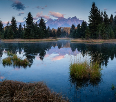 Sunrise At Schwabacher's Landing Beaver Ponds