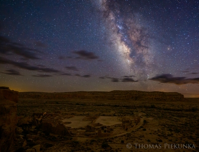 Pueblo Bonito And Milky Way From Mesa Overlook 2