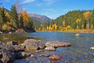 Early Autumn Day On The Middle Fork