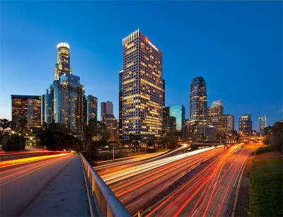 Los Angeles And The 110 Freeway