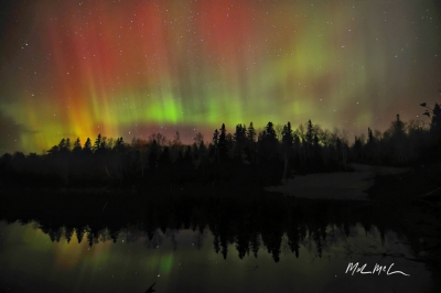 Red Green And Yellow Northern Lights