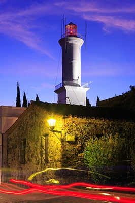 Colonia Del Sacramento Lighthouse At Dusk.