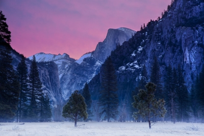 Half Dome And First Light