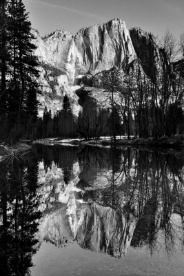 Yosemite Falls Reflection – Merced River