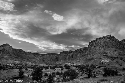 Storm Clearing Over Capitol Reef, Bw