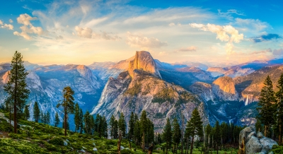 Heaven And Earth – Half Dome Sunset