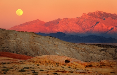 Vally Of Fire Moonrise