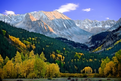 Colorado, Rocky, Mountains, Castle, Peak, Fall, Foliage, Sunset