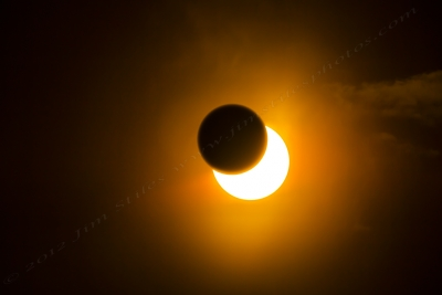 Annular Solar Eclipse About 3/4 Through