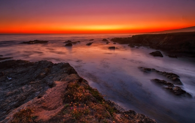 Sunset At The Tide Pools, Sea Ranch, Ca