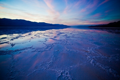 Sunrise At Badwater In Death Valley