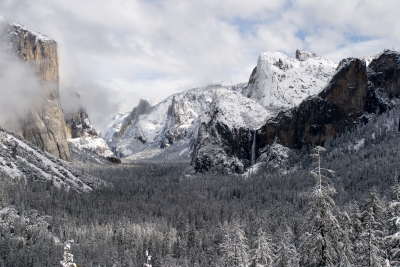 Clearing Snowstorm At Tunnel View