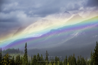Rainbow Over The Icefields Parkway