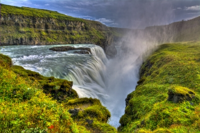 Gullfoss (golden Falls) In Iceland
