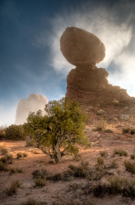 Balanced Rock In Fog 2