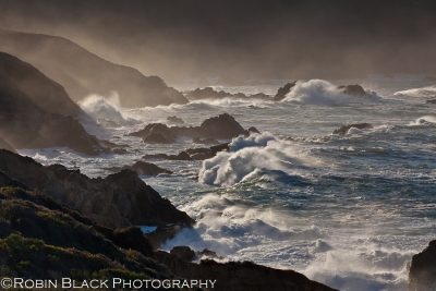 Morning Light And Big Surf, Garrapata State Beach